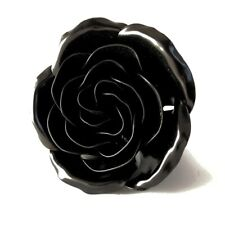 Personalized Gift Wrought Iron Black Metal Rose - 6th Anniversary Gift for Her