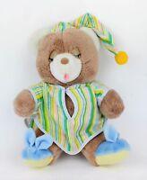 Vtg 82 AMERICAN GREETINGS AMTOY SLEEPY TIME BEDDY-BYE TEDDY BEAR STUFFED ANIMAL