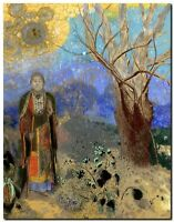 "Odilon Redon Buddha Abstract Art CANVAS PRINT painting poster 24""X18"""