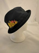 "Resistol Vintage Men's Fedora Hat 7"" Small Self Conforming Black Felt 1950s 60s"