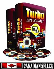 Turbo Site Builder Software 'Build Websites and Landing pages ' w/ Video ON CD