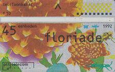 Pays-Bas  ptt  telecom 45  eenheden  F 10  floriade 1992