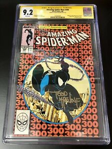 Amazing Spider-Man #300 CGC 9.2 signed by Todd McFarlane ❄️White Pages ❄️ 🔥