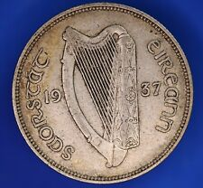 More details for irish eire ireland 1937 florin, two shilling, 2/- coin   [23262]