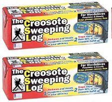 (2) ea Creosote Sweeping Log  # SL 824-12 Chimney Pipe Cleaner