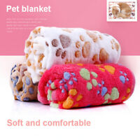Fine-Pet Warm Pet Mat Large Paw Print Cat Dog Puppy Fleece Soft Blanket Cushion