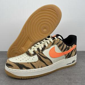 Nike Air Force 1 07 PRM 'Daktari Stripes' Brown/Black/Ivory DJ6192-100 Men's 9