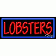 "New ""Lobsters"" 32x13 Border Neon Sign w/Custom Options 11439"