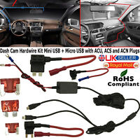 Micro USB Car Hard Wire Kit Box Charger Adapter for Nextbase Dash Cam Camera DVR