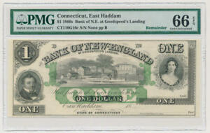 Connecticut, East Haddam Bank Note. PMG 66 Gem Unc. EPQ