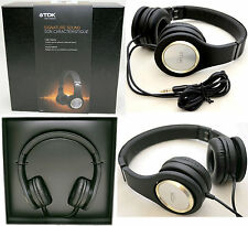 NEW TDK ST700 Signature Sound High Fidelity Wired Stereo Headphones BLACK dj NEW