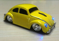 UK USB 1967 VW Classic Beetle Car 2.4Ghz wireless Mouse Mice for Laptop PC Yello