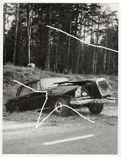 24x18 Foto 1964 Unfall Mercedes W112 wie Arnold Odermatt Polizei photo
