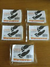 Five Pairs WARMAWEAR Thermal Disposable Foot/Toe Warmers - Hiking Skiing - NEW