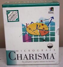 "Micrografx Charisma Business Graphics for Windows 3.0/31/2"" 1.44MB Diskettes NIB"