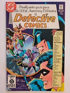 DETECTIVE COMICS #500 (VF) 1981 ANNIVERSARY ISSUE; WRAPAROUND COVER; DEADMAN APP