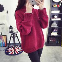 Fashion Women Girl Coat Students Pullover Loose Sweater Long Sleeve Knitwear