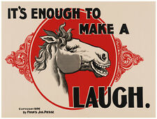 "20x30""Decoration CANVAS.Interior room design art.Laughing horse.Funny.6433"