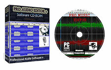 Pro Audio Sound Music Mp3 Editor Editing Mixing Recording Converting Software +