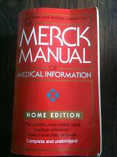The Merck Manual of Medical Information by Robert Berkow (1999, Paperback) #3047