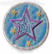 """2"""" Metallic Silver gold Purple Blue Celestial Star Embroidery Patch"""