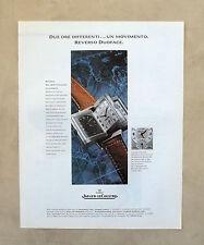 E657 - Advertising Pubblicità -1997- JAEGER LE COULTRE OROLOGIO REVERSO DUOFACE