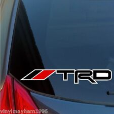 Two TRD Racing Development sticker decal Toyota IS350 celica tundra supra fr-s