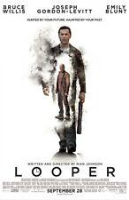 Looper - original DS movie poster - D/S 27x40 Bruce Willis , Gordon-Levitt FINAL