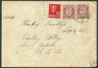 NORWAY TO USA Cover 1930 VF