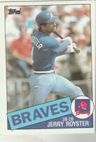 FREE SHIPPING-MINT-1985 Topps #776 Jerry Royster Braves PLUS BONUS CARDS