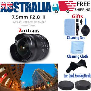7artisans 7.5mm F2.8Ⅱ Fisheye Lens for Canon EOS M Sony E Fujifilm X Nikon M4/3