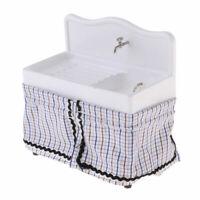 1:12 Dollhouse Miniature Ceramic Hand Basin Sink Cloth Bathroom Furniture Decor