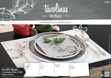 Tischsets Platzsets Verdura Gemüse 24 Blatt Block Mediterran placemat vegetables