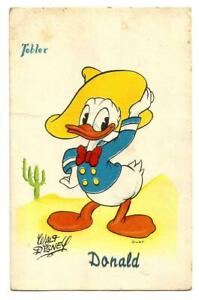 Walt Disney postcard. Donald.French postcard write in 1960.