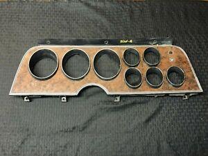 1972-1976 Ford Ranchero Gran Torino Dash Instrument Cluster Bezel Wood Grain OEM