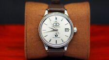 1960 VINTAGE AUTO Dater 7 Citizen PARA ACQUA 40M Bianco 19 JEWELS orologio automatico