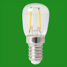 4x 2W (=20W) LED Pygmy 3000K Filament Appliance SES E14 Edison Screw Light Bulb