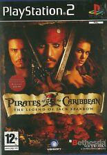 Playstation 2 PS2 juego Piratas del Caribe la leyenda de Jack Sparrow con V.