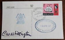 Autographed Postcard of HMS Victory + Cachets & FDC Cancel (Se6)