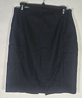 Express Design Studio Womens Skirt Size 6 Blue Pencil Straight Career Back Slit
