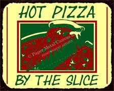 (VMA-L-6508) Pizza Slice Vintage Metal Art Italian Pizzeria Retro Tin Sign