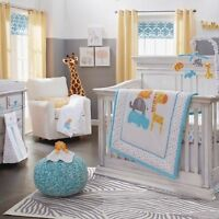 Koala Baby 4 Piece Safari Crib Bedding Set / New