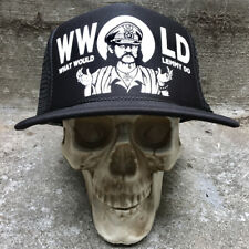 What would Lemmy Do? Black Trucker Hat Seven13 Productions Motorhead WWLD 13