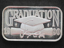 1990 Silver Towne Graduation Cap & Scroll Silver Art Bar P1570