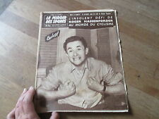 JOURNAL MIROIR DES SPORTS BUT CLUB  719 8 decembre 1958 roger hassenforder