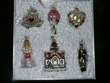 Wedding Collection 6 pc. 14011 Old World Christmas Glass Ornament Boxed Set