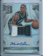 2014-15  SPECTRA RC Rookie Markel Brown Prizm Auto Patch BROOKLYN NETS