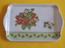 Ambiente 1x Tablett  Erdbeeren Blüten Rand SEASON FRUITS Melamin 13 x 21 trays