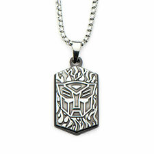 HASBRO Transformers Stainless Steel Optimus Prime Autobot Pendant Necklace 24""