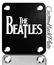 BLACK Beatles Engraved Guitar Neck Plate fits Fender tele/strat/pbass